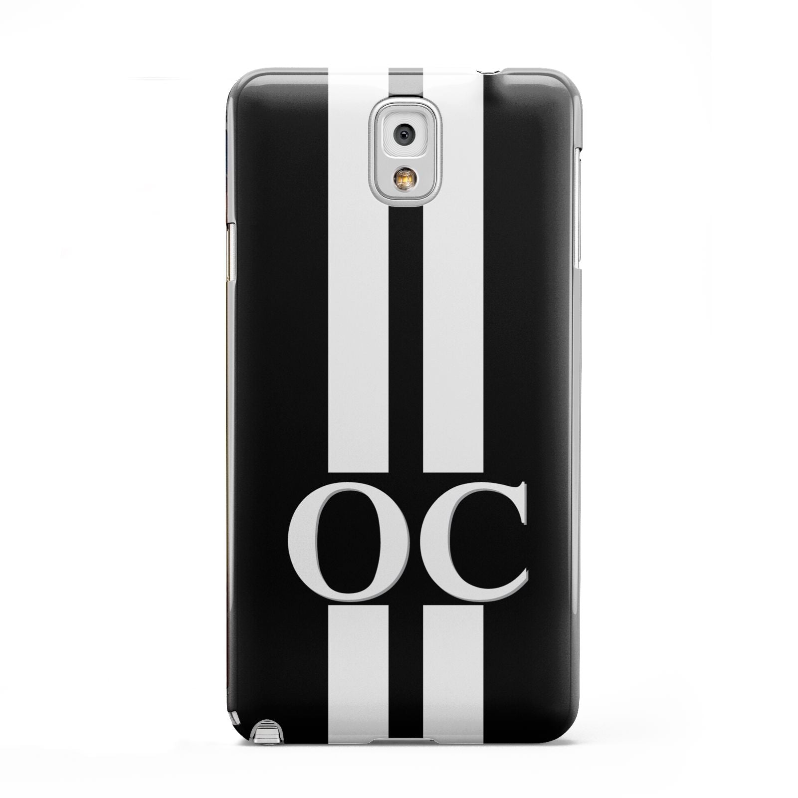 Black Personalised Initials Samsung Galaxy Note 3 Case