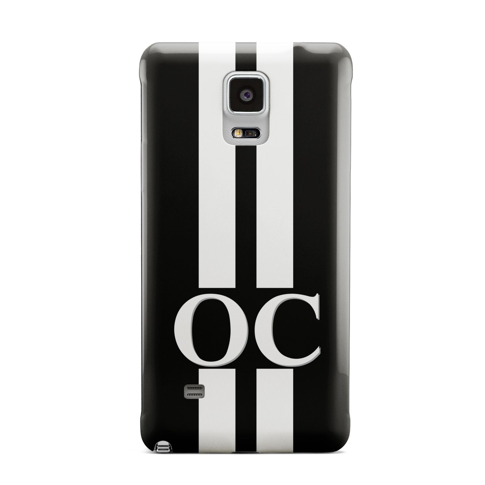 Black Personalised Initials Samsung Galaxy Note 4 Case