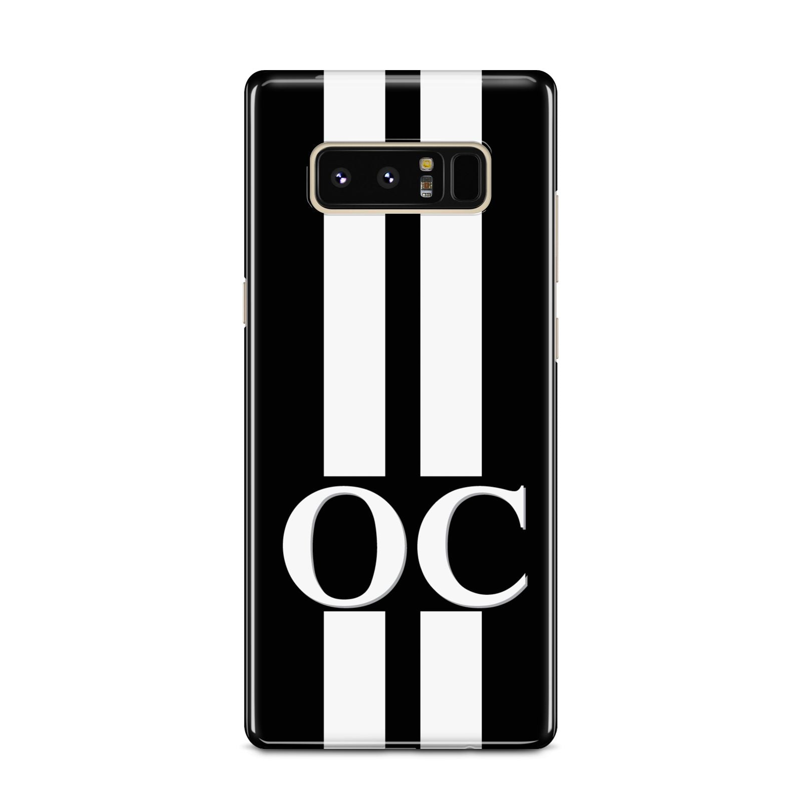 Black Personalised Initials Samsung Galaxy Note 8 Case
