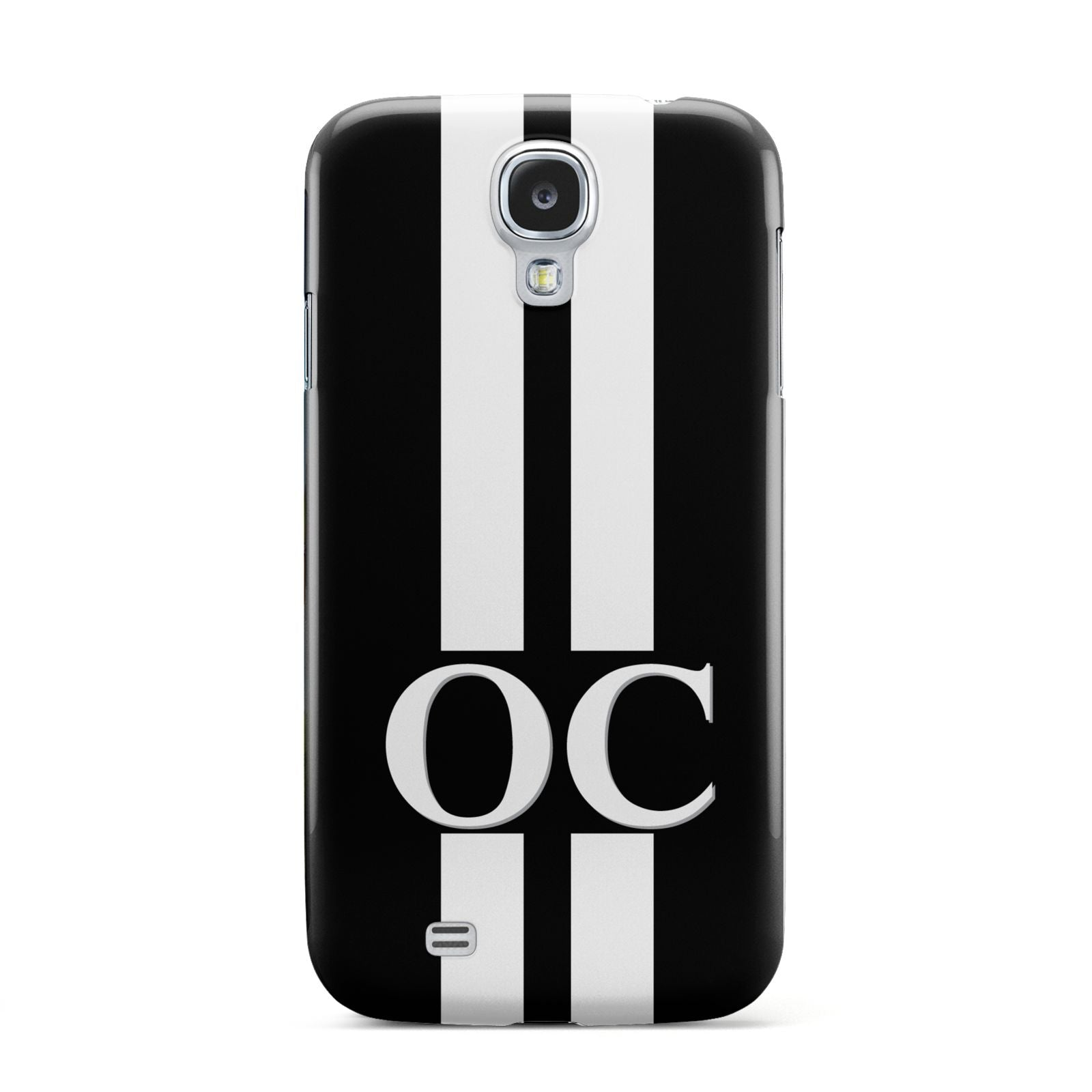 Black Personalised Initials Samsung Galaxy S4 Case