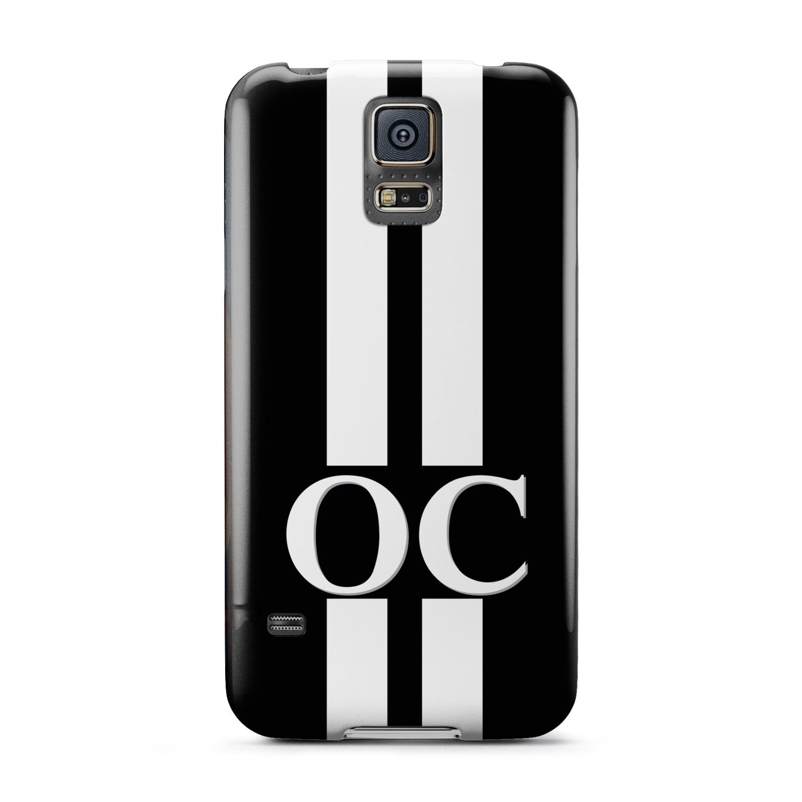 Black Personalised Initials Samsung Galaxy S5 Case