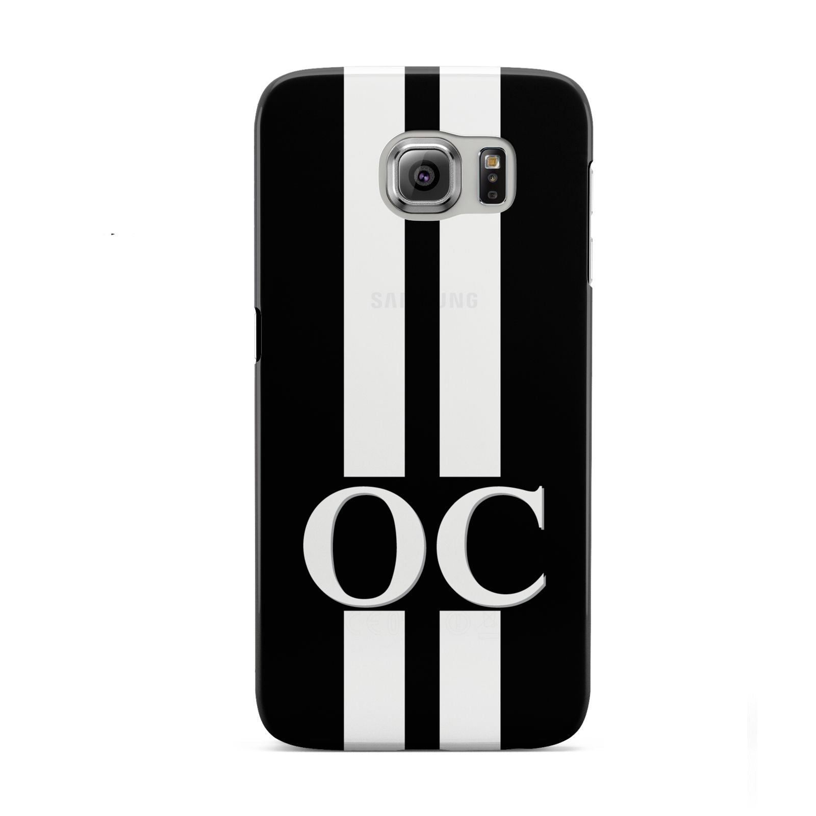 Black Personalised Initials Samsung Galaxy S6 Case