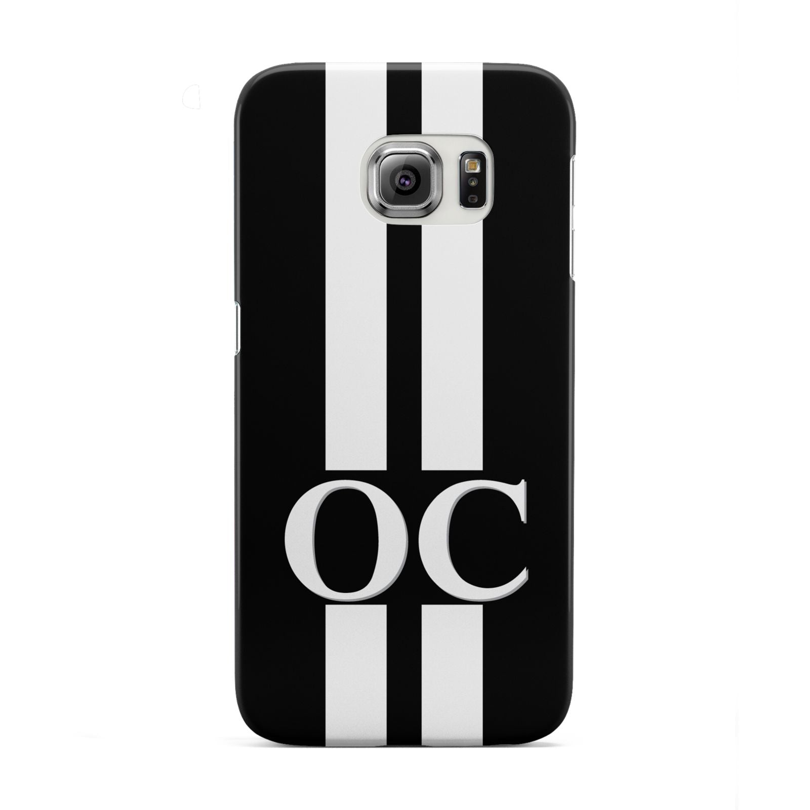 Black Personalised Initials Samsung Galaxy S6 Edge Case