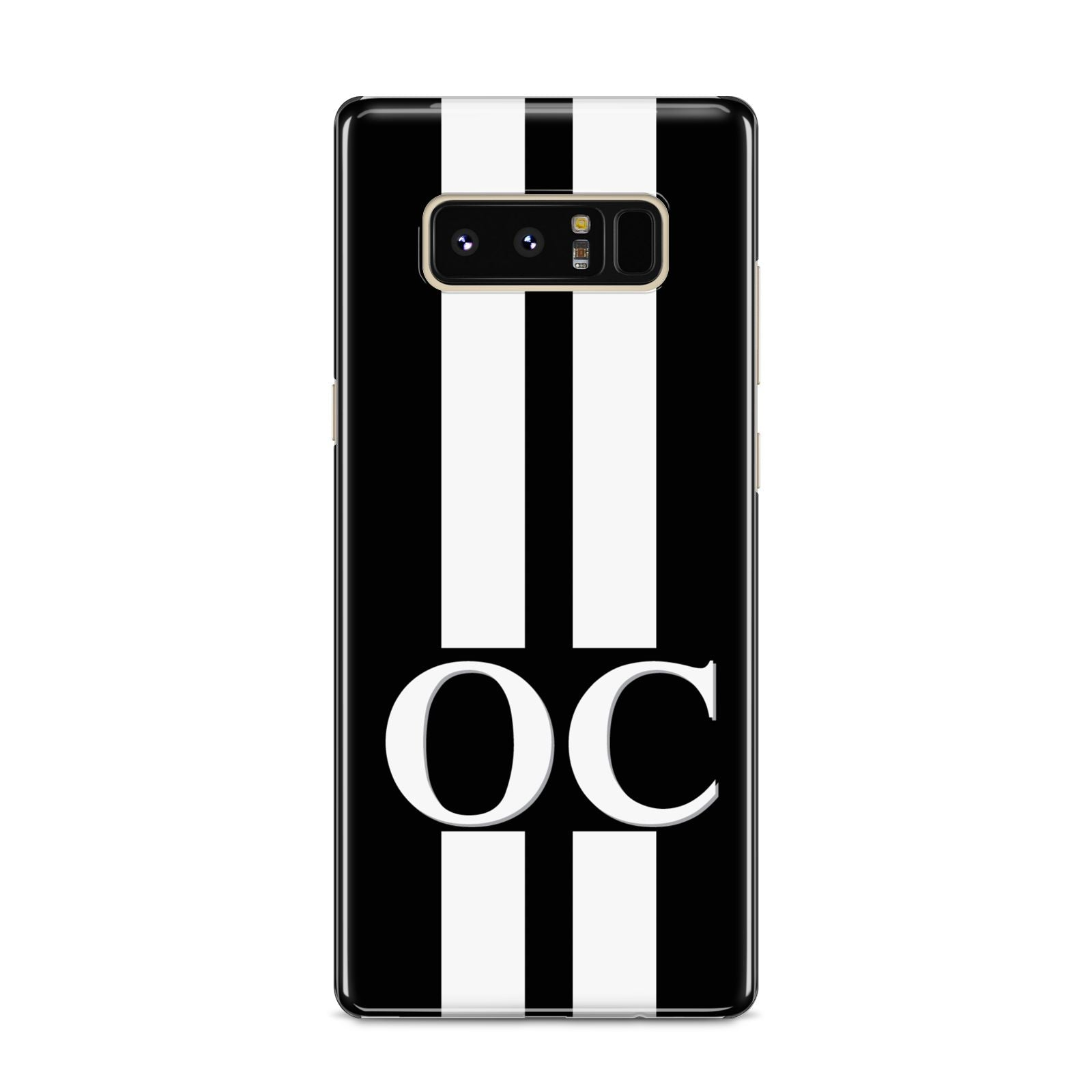 Black Personalised Initials Samsung Galaxy S8 Case