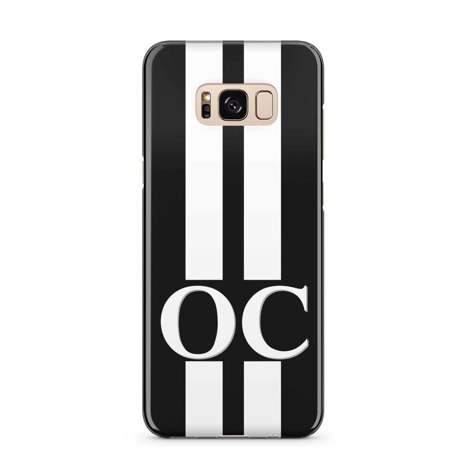 Black Personalised Initials Samsung Galaxy S8 Plus Case