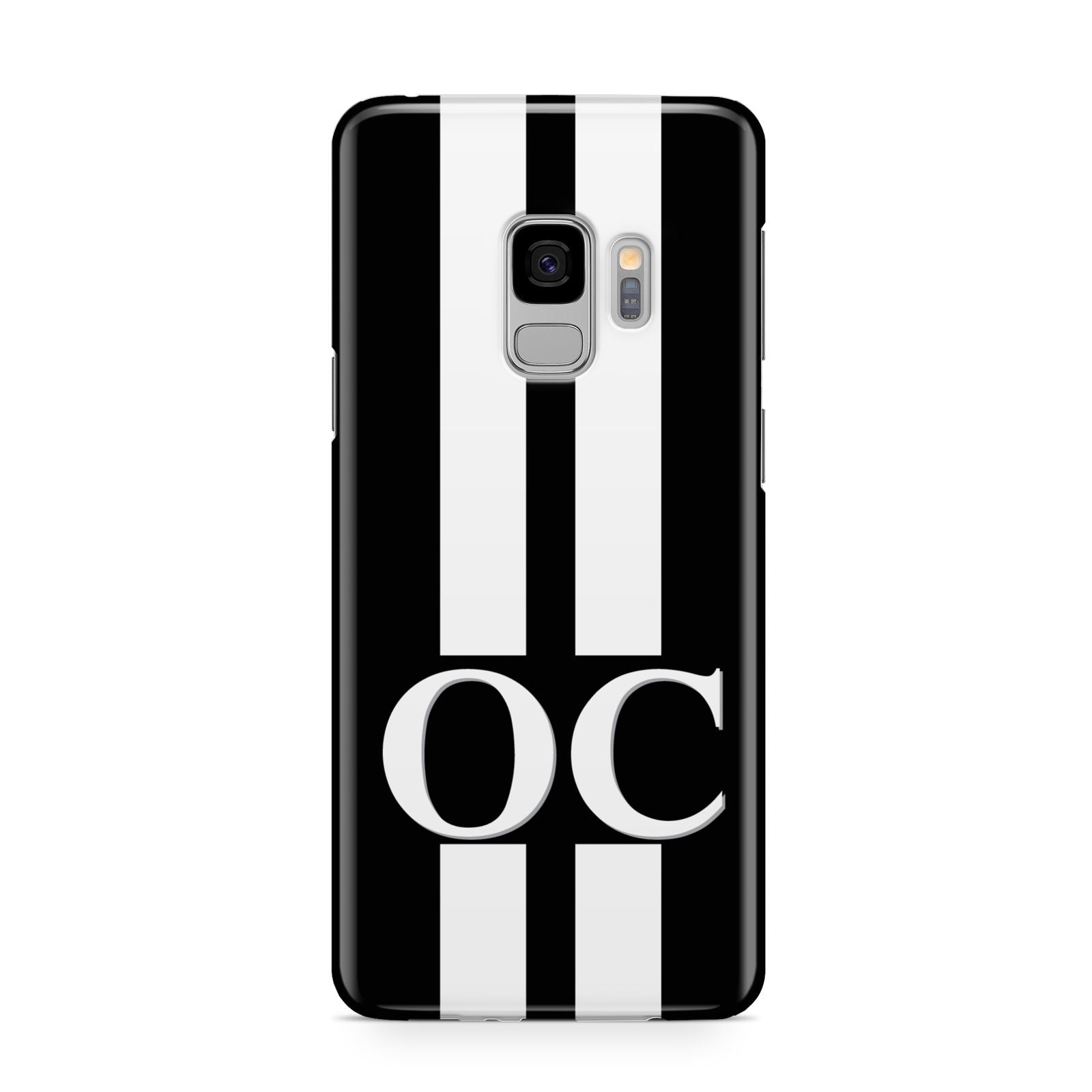 Black Personalised Initials Samsung Galaxy S9 Case