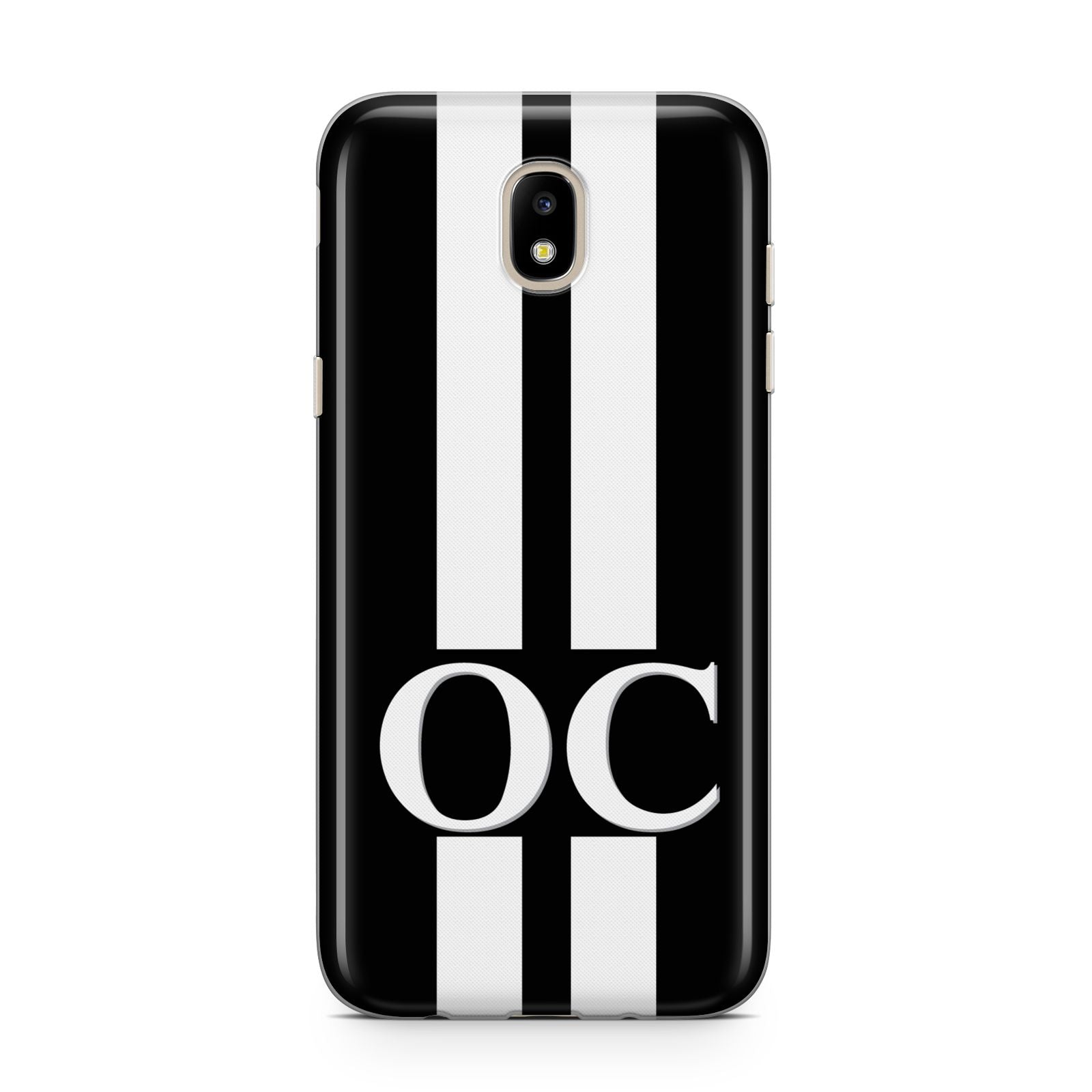 Black Personalised Initials Samsung J5 2017 Case