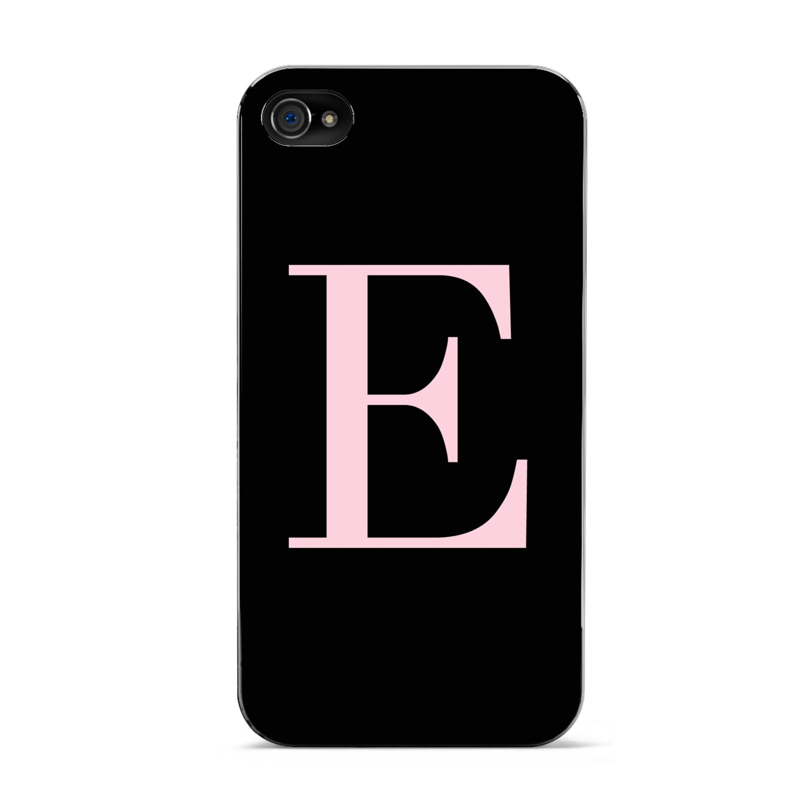 Black with Pink Personalised Monogram Apple iPhone 4s Case