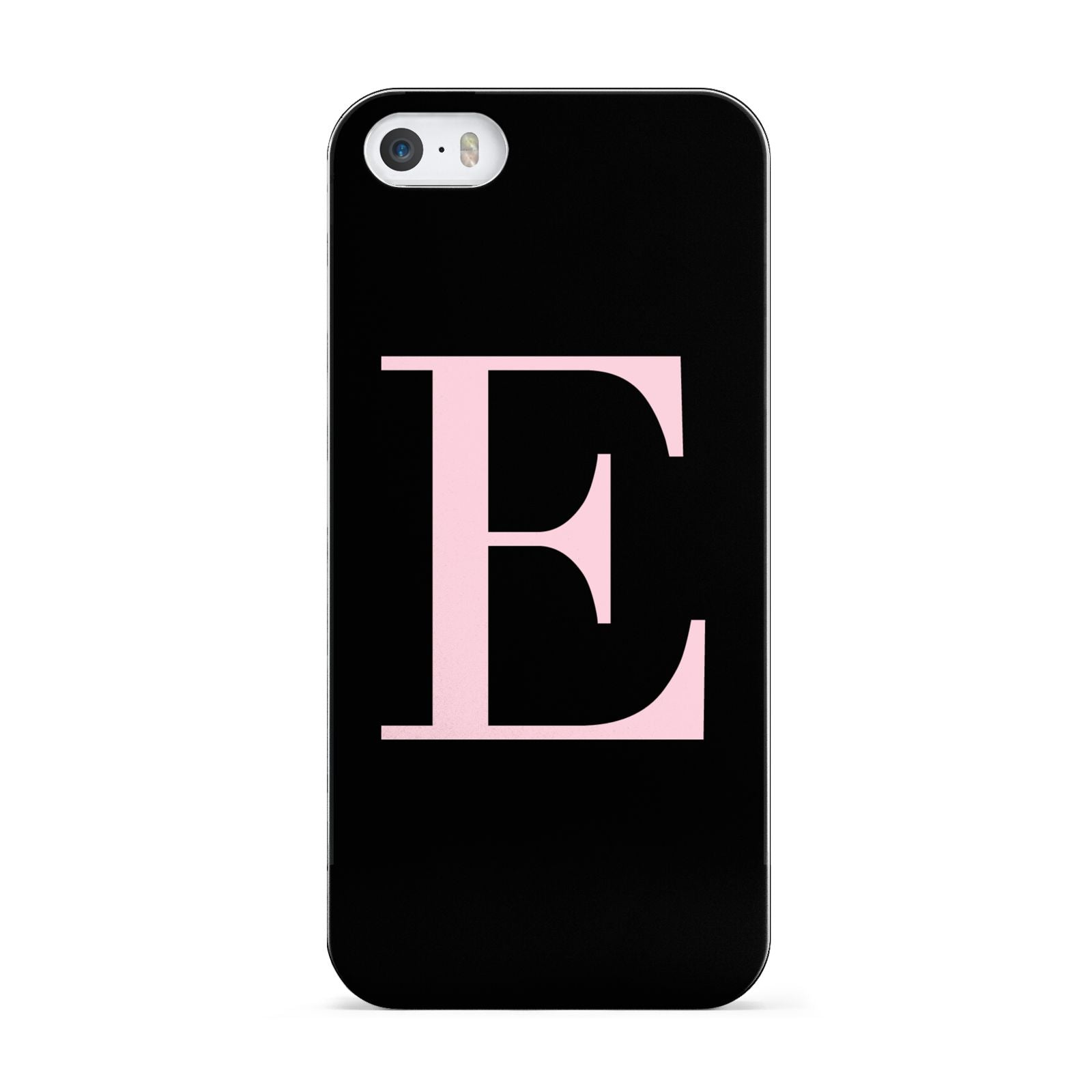 Black with Pink Personalised Monogram Apple iPhone 5 Case