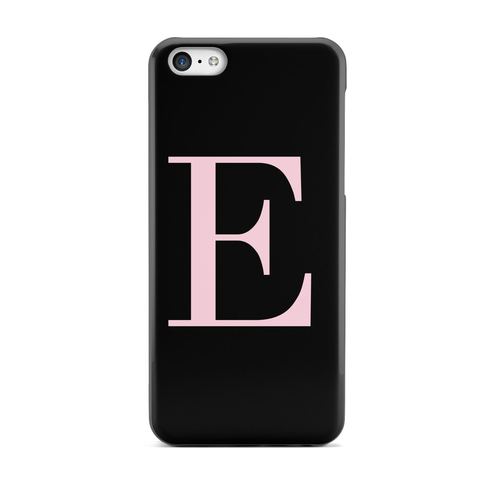 Black with Pink Personalised Monogram Apple iPhone 5c Case
