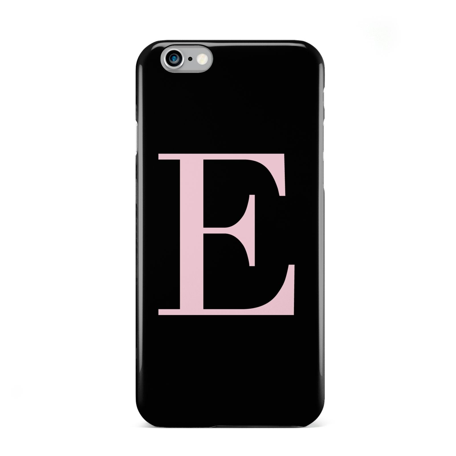 Black with Pink Personalised Monogram Apple iPhone 6 Case