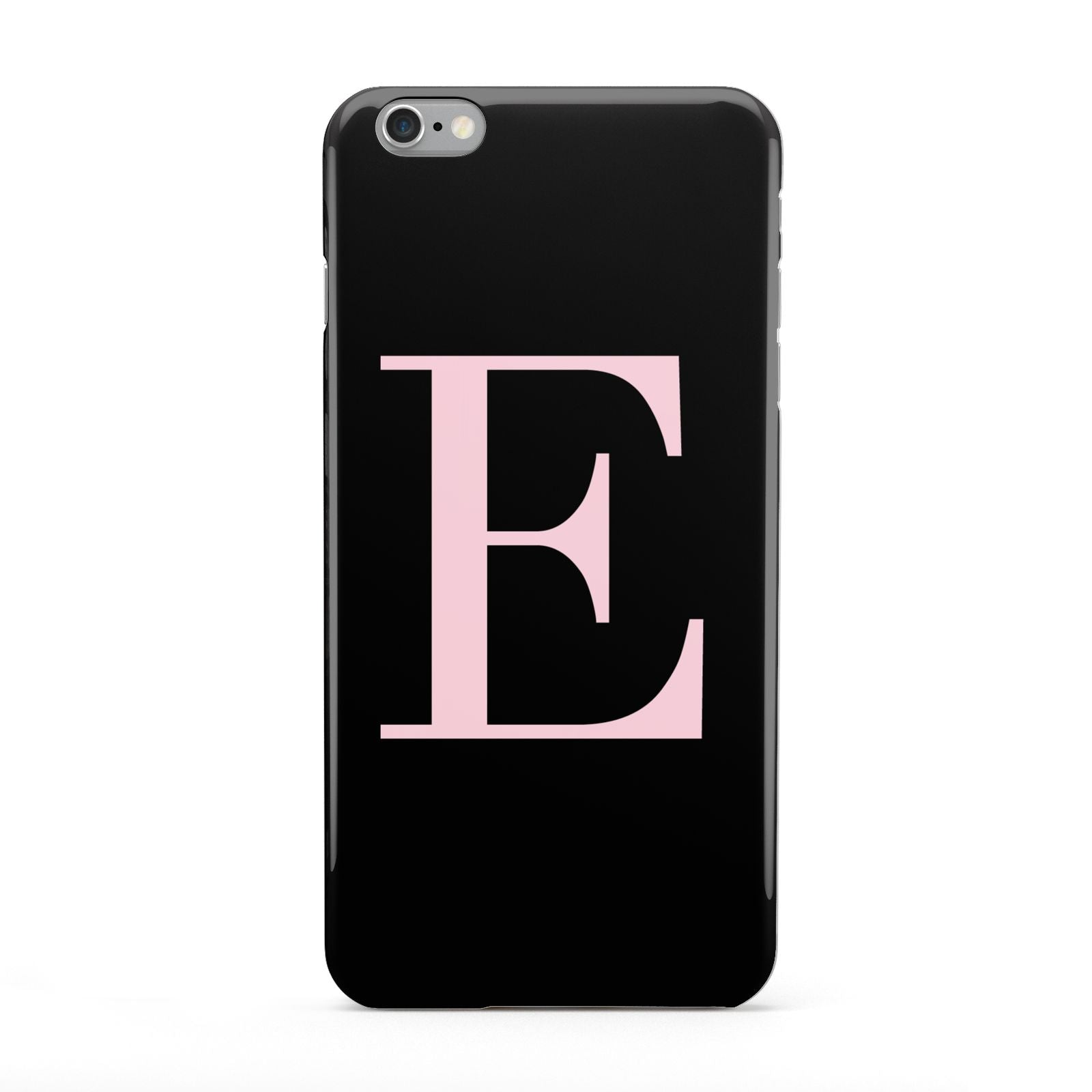 Black with Pink Personalised Monogram Apple iPhone 6 Plus Case