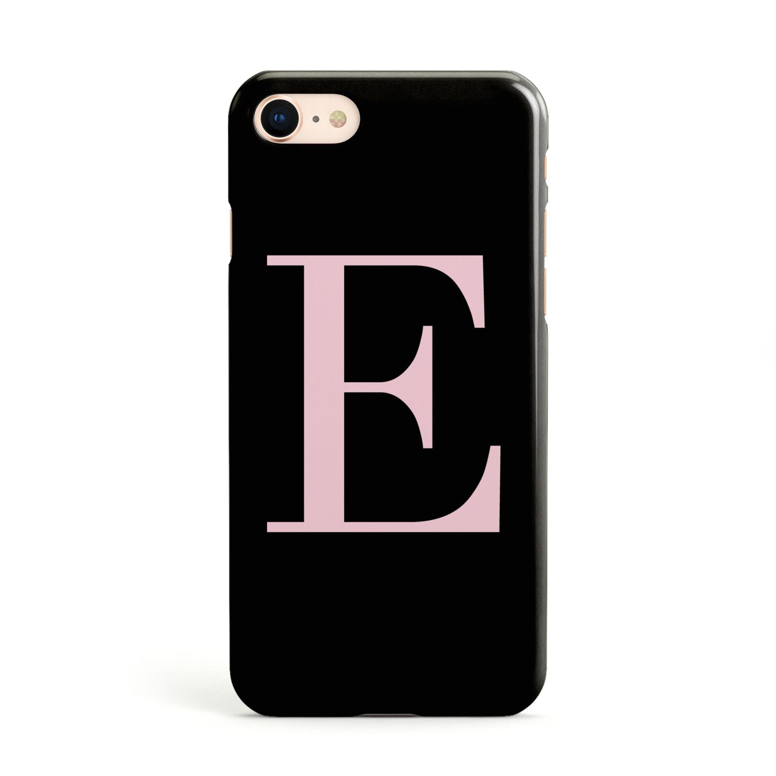 Black with Pink Personalised Monogram Apple iPhone Case
