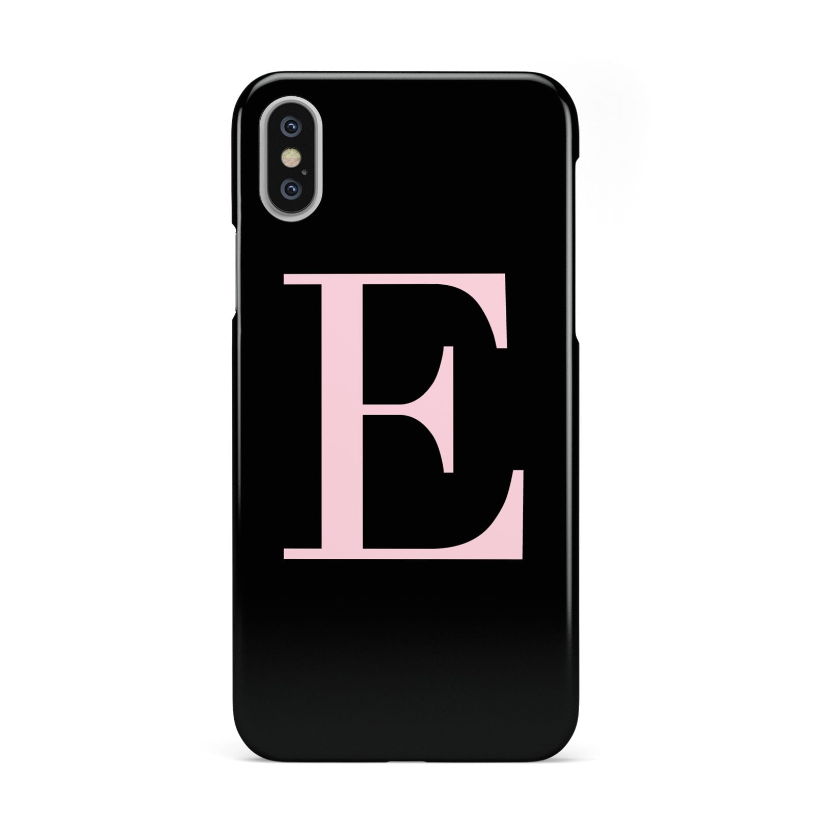 low priced 97e37 6b9da Black with Pink Personalised Monogram Apple iPhone Case | Dyefor