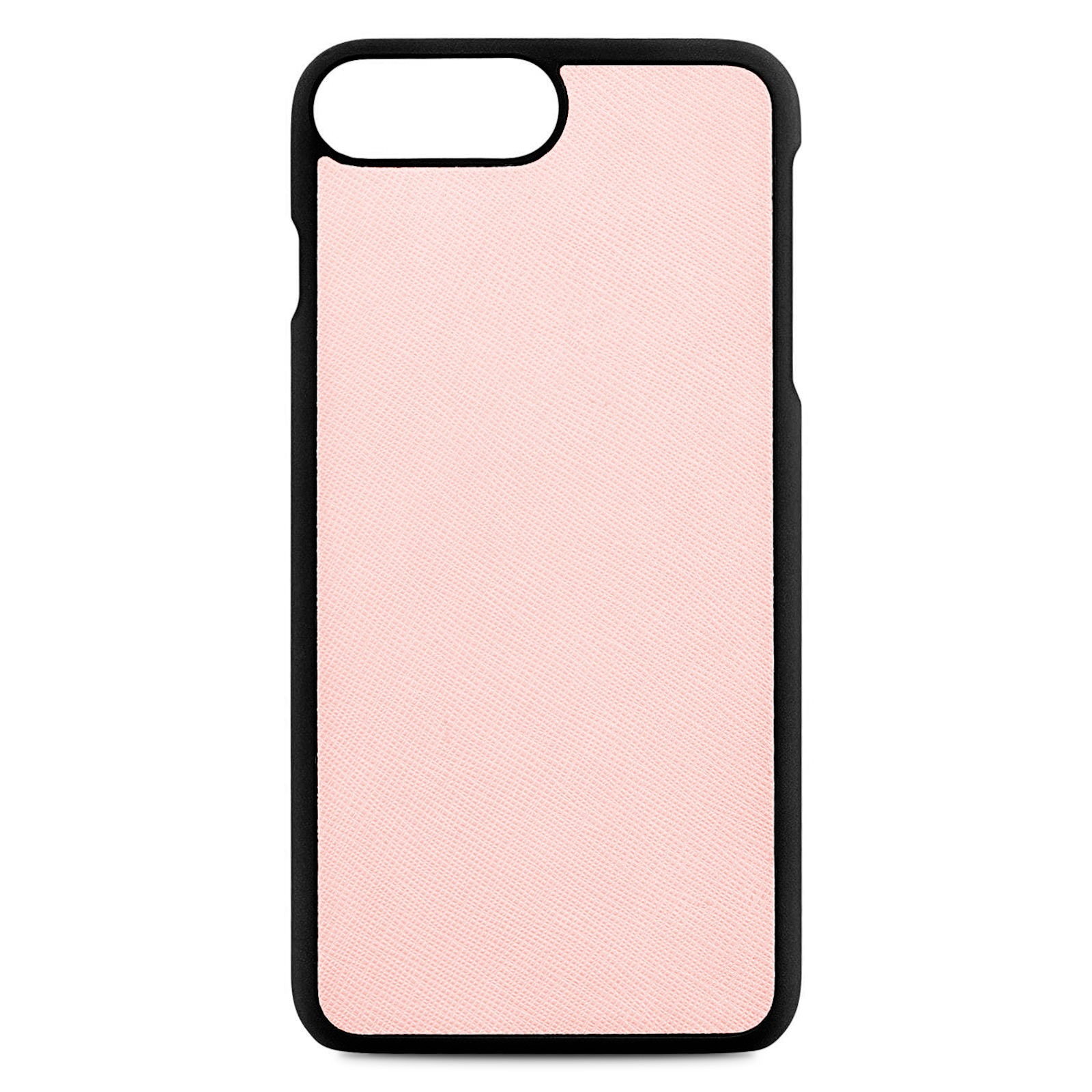 Blank Personalised Pink Saffiano Leather iPhone 8 Plus Case