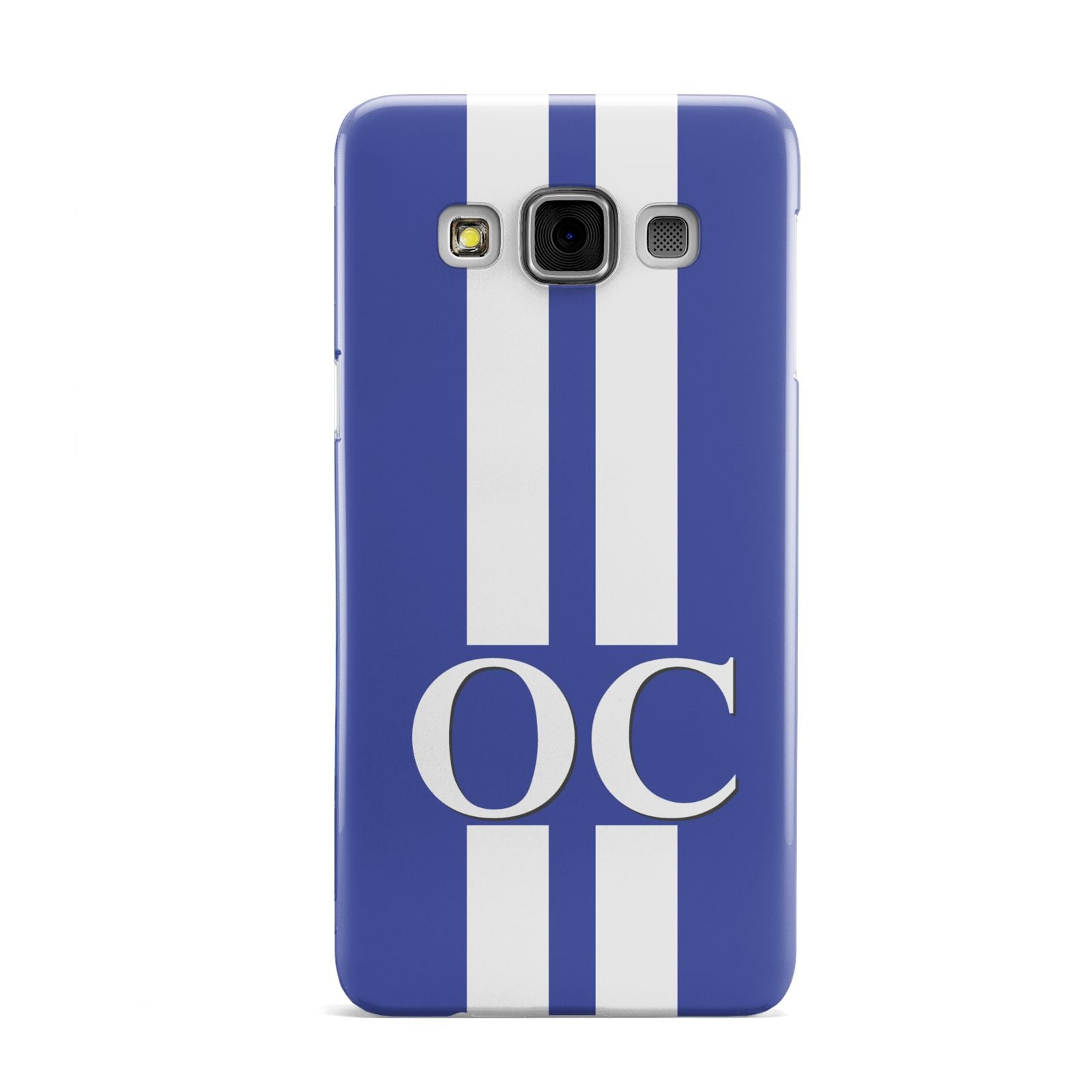 Blue Personalised Initials Samsung Galaxy A3 Case
