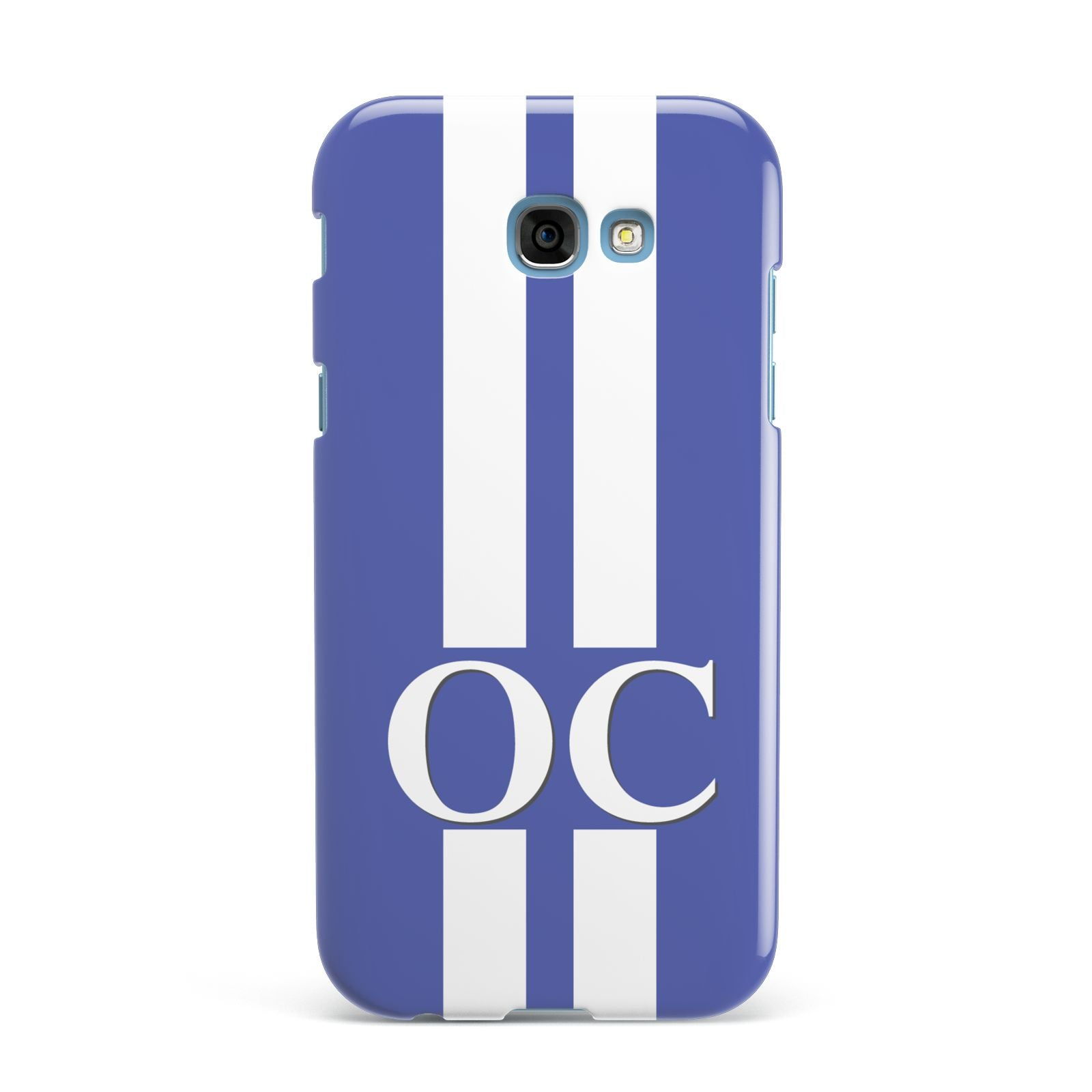 Blue Personalised Initials Samsung Galaxy A7 2017 Case