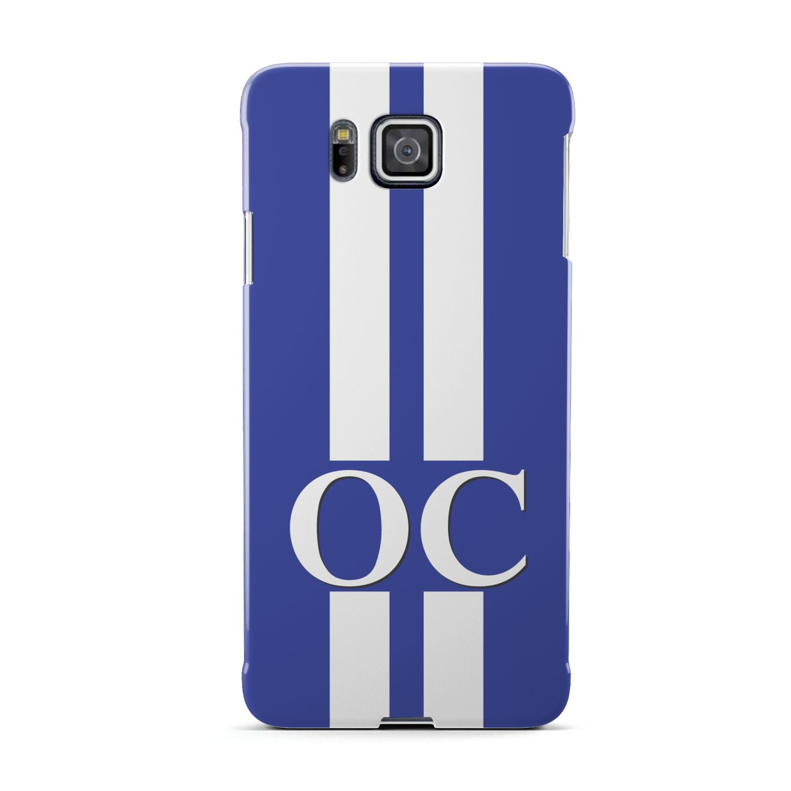 Blue Personalised Initials Samsung Galaxy Alpha Case