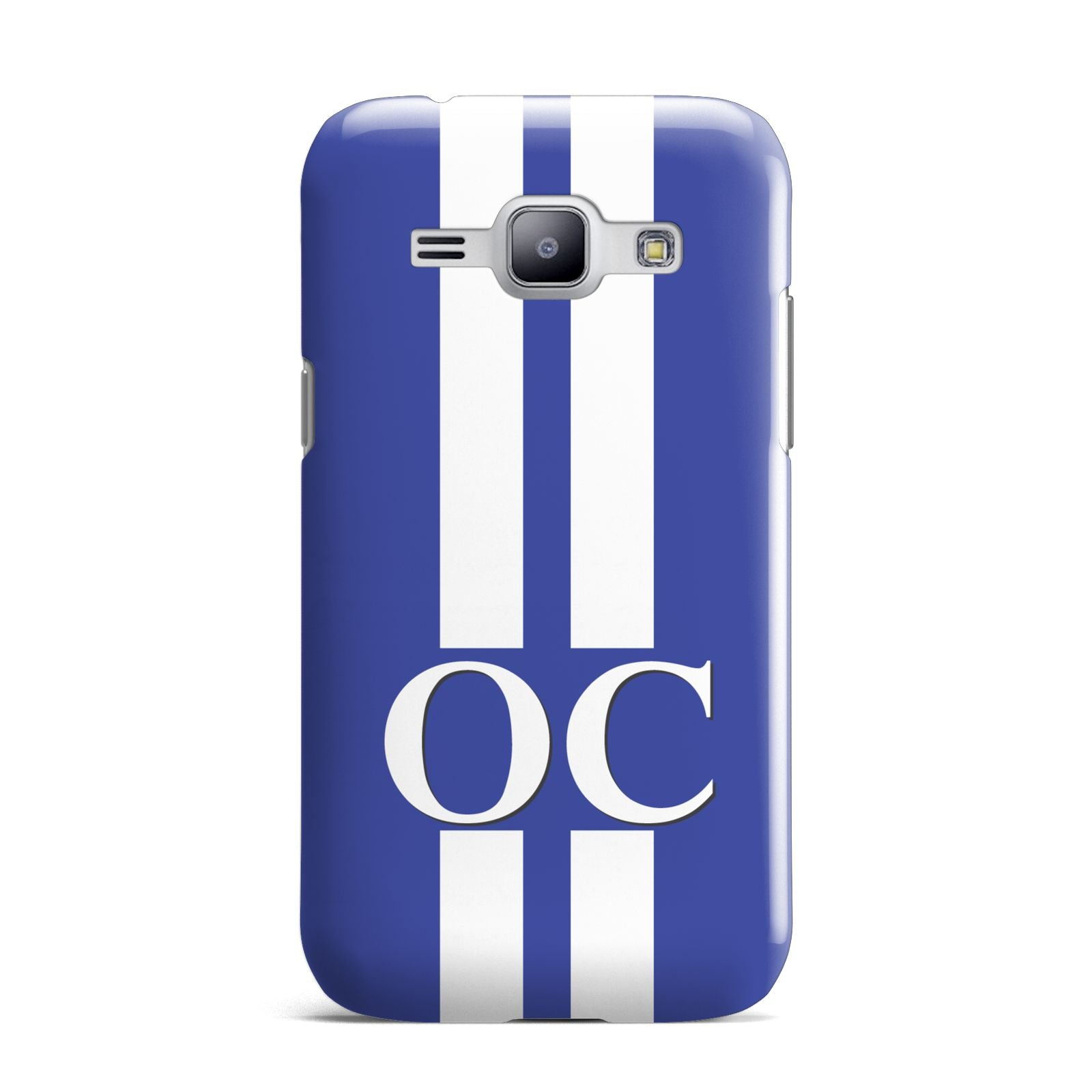 Blue Personalised Initials Samsung Galaxy J1 2015 Case
