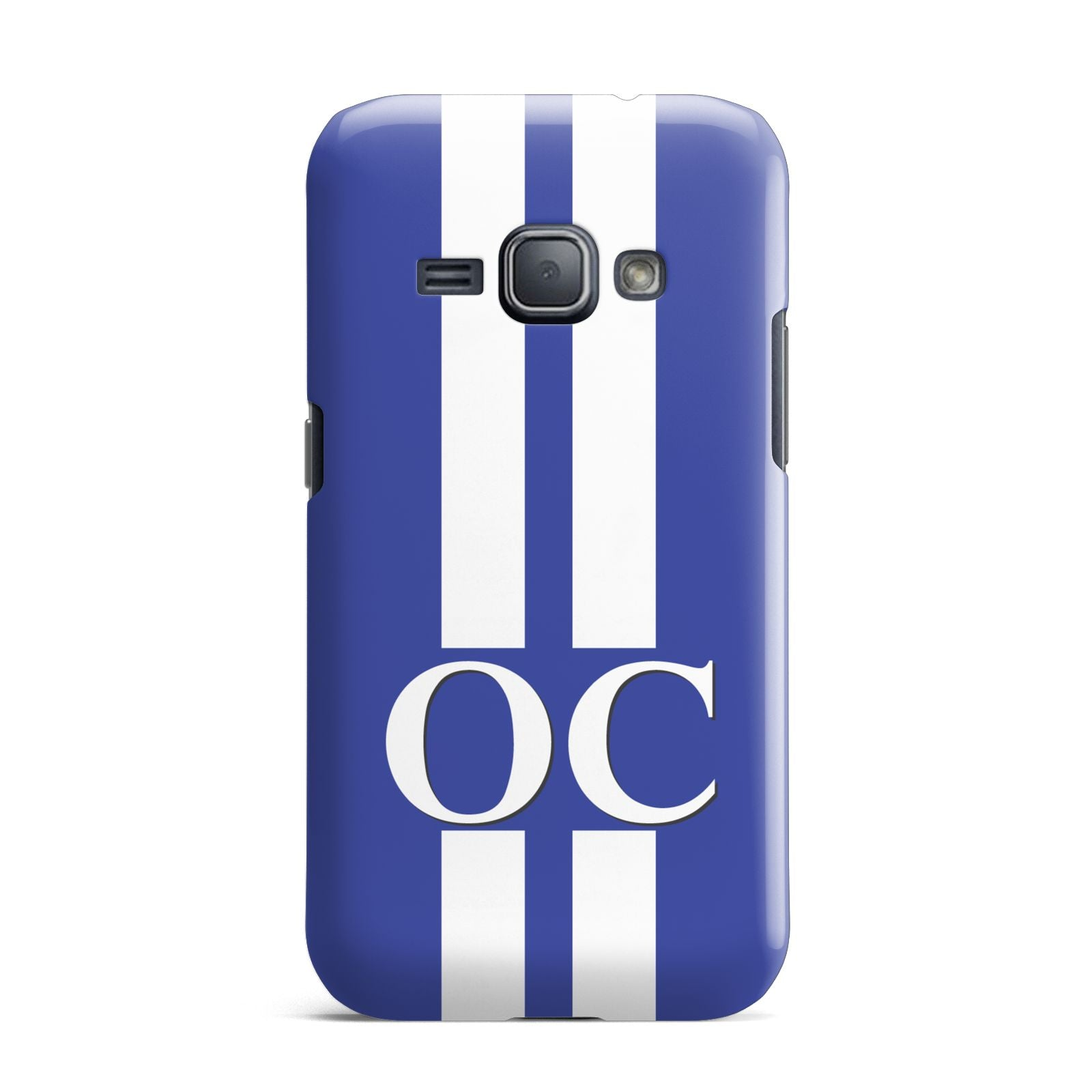 Blue Personalised Initials Samsung Galaxy J1 2016 Case