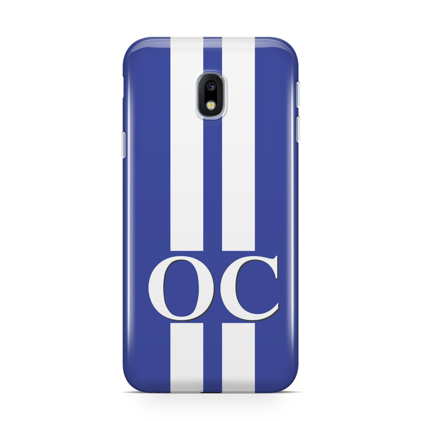 Blue Personalised Initials Samsung Galaxy J3 2017 Case