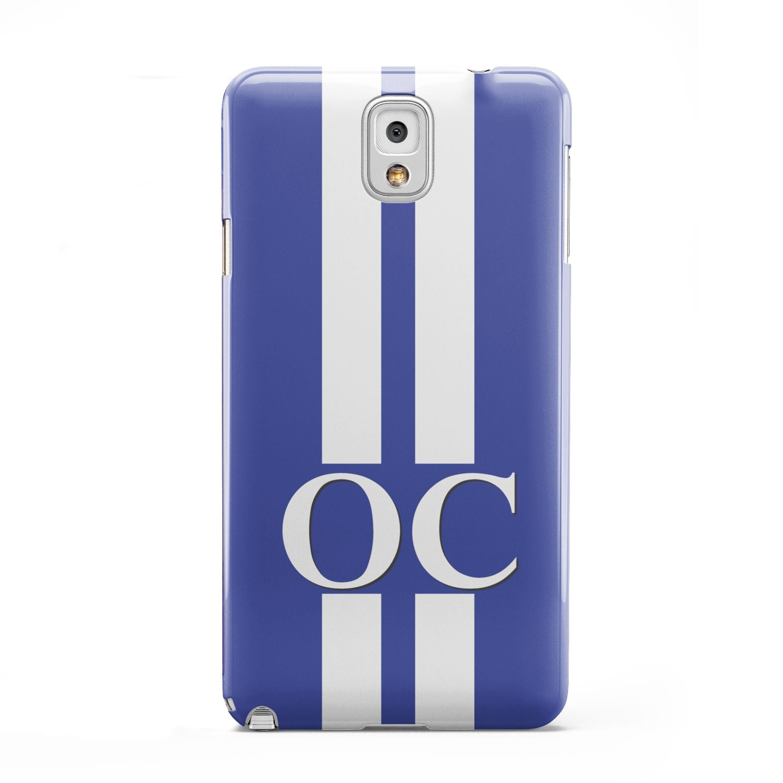 Blue Personalised Initials Samsung Galaxy Note 3 Case