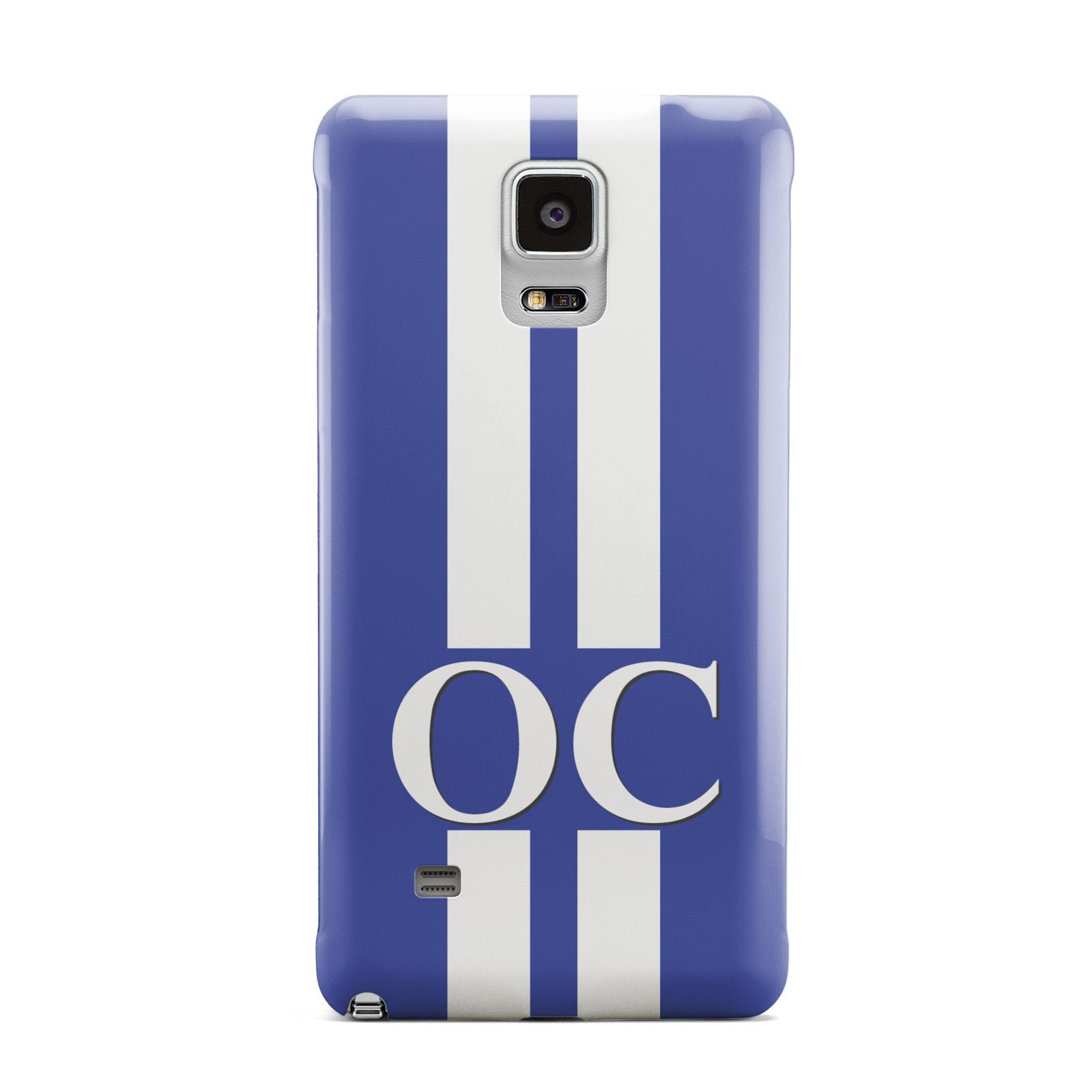 Blue Personalised Initials Samsung Galaxy Note 4 Case