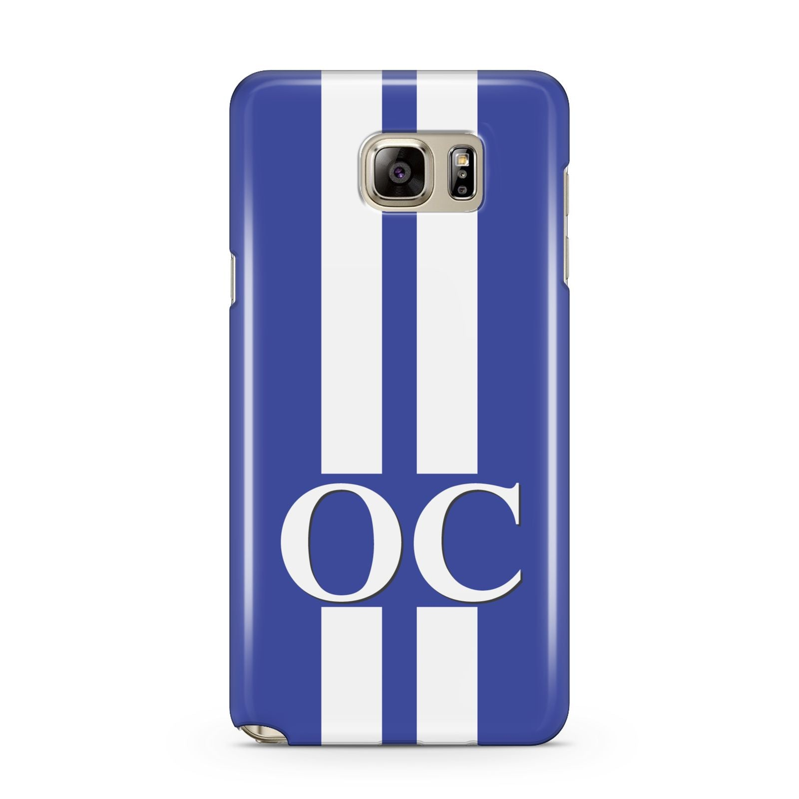 Blue Personalised Initials Samsung Galaxy Note 5 Case