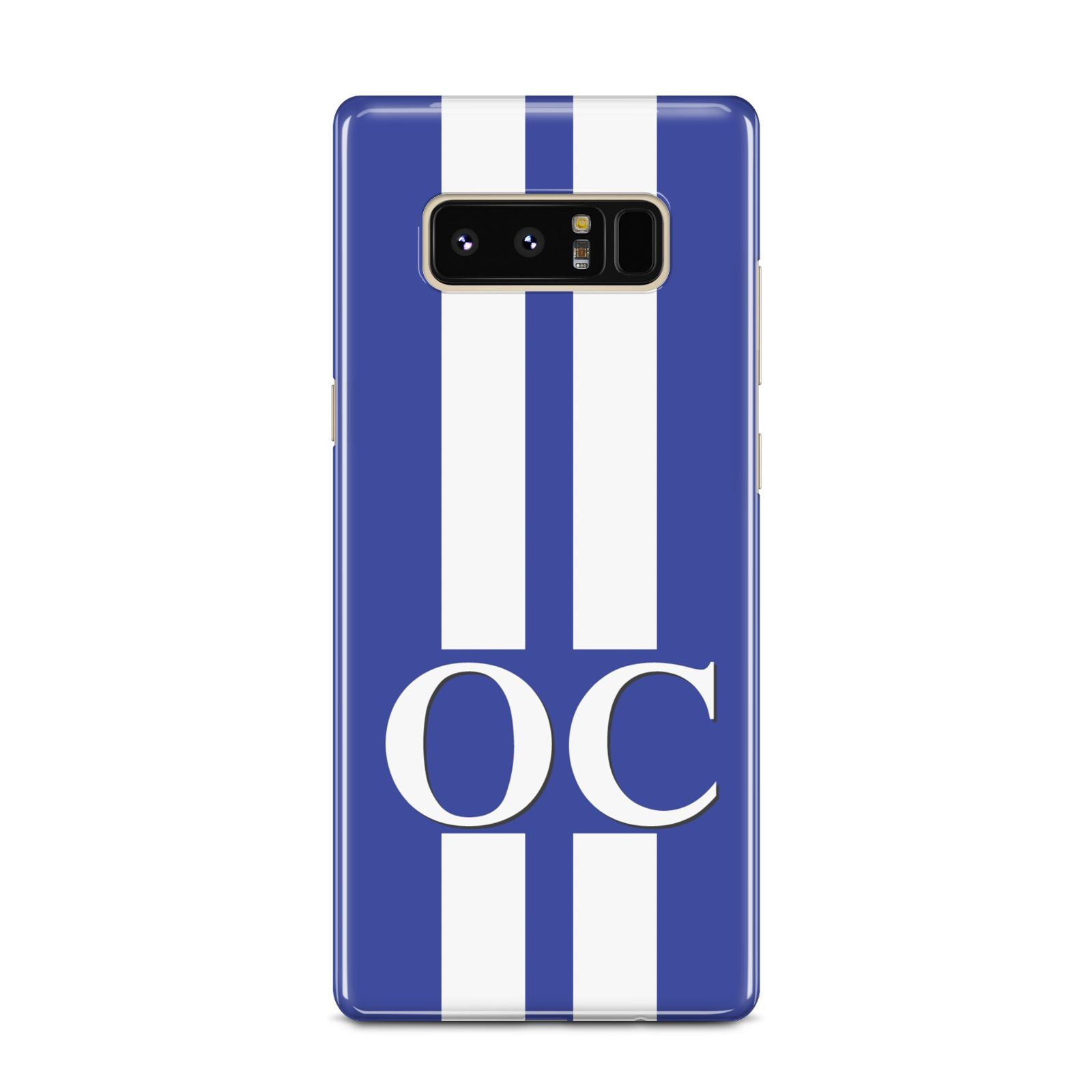 Blue Personalised Initials Samsung Galaxy Note 8 Case