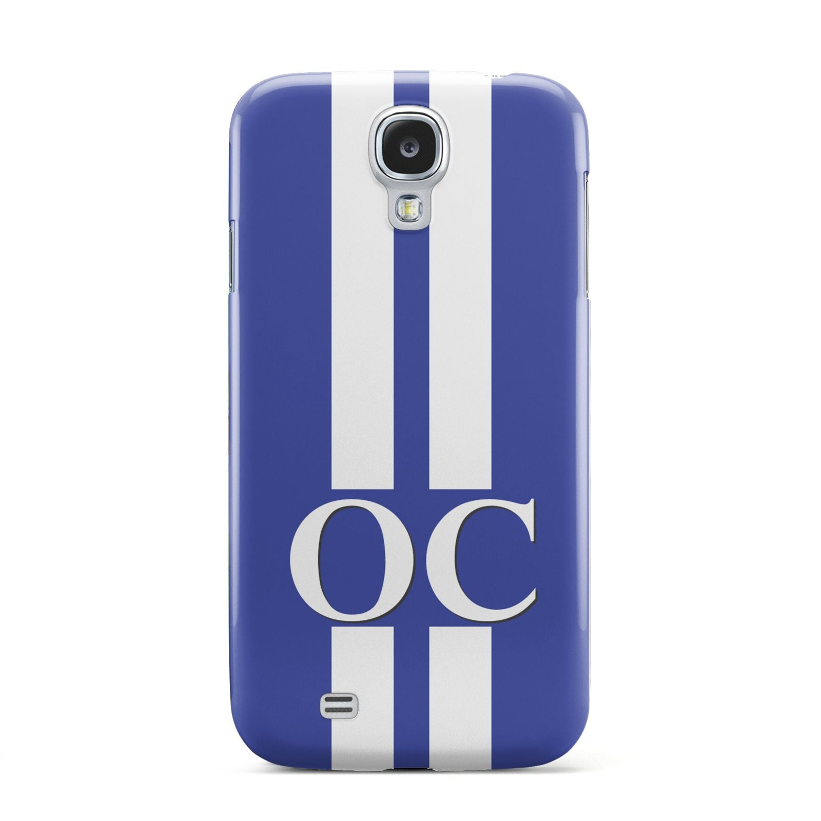 Blue Personalised Initials Samsung Galaxy S4 Case