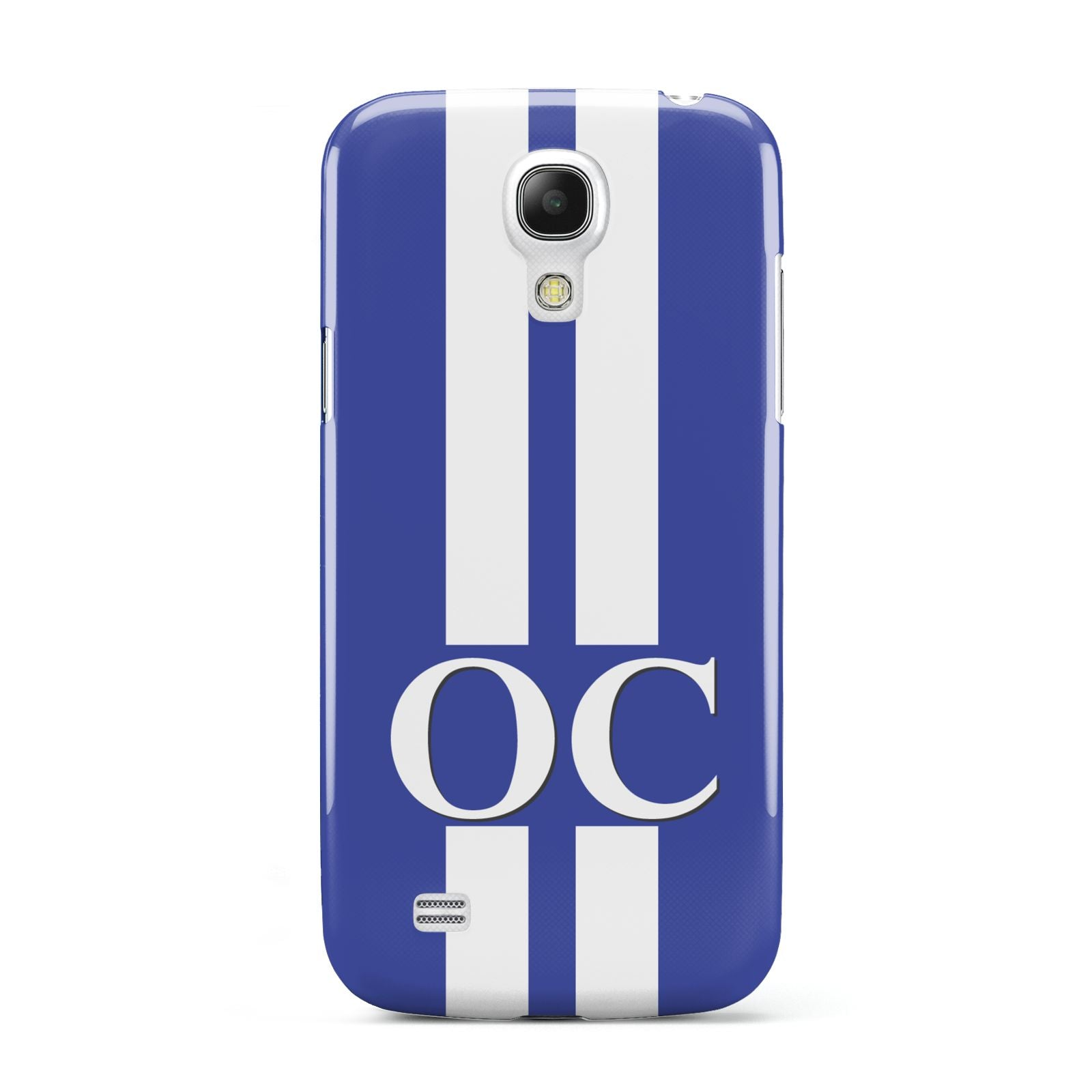 Blue Personalised Initials Samsung Galaxy S4 Mini Case
