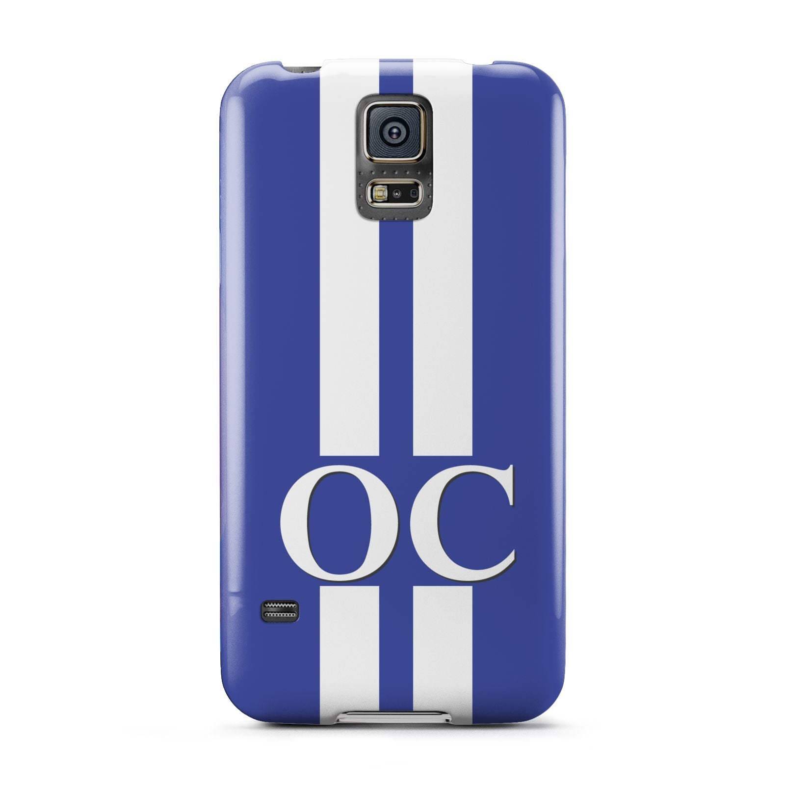 Blue Personalised Initials Samsung Galaxy S5 Case