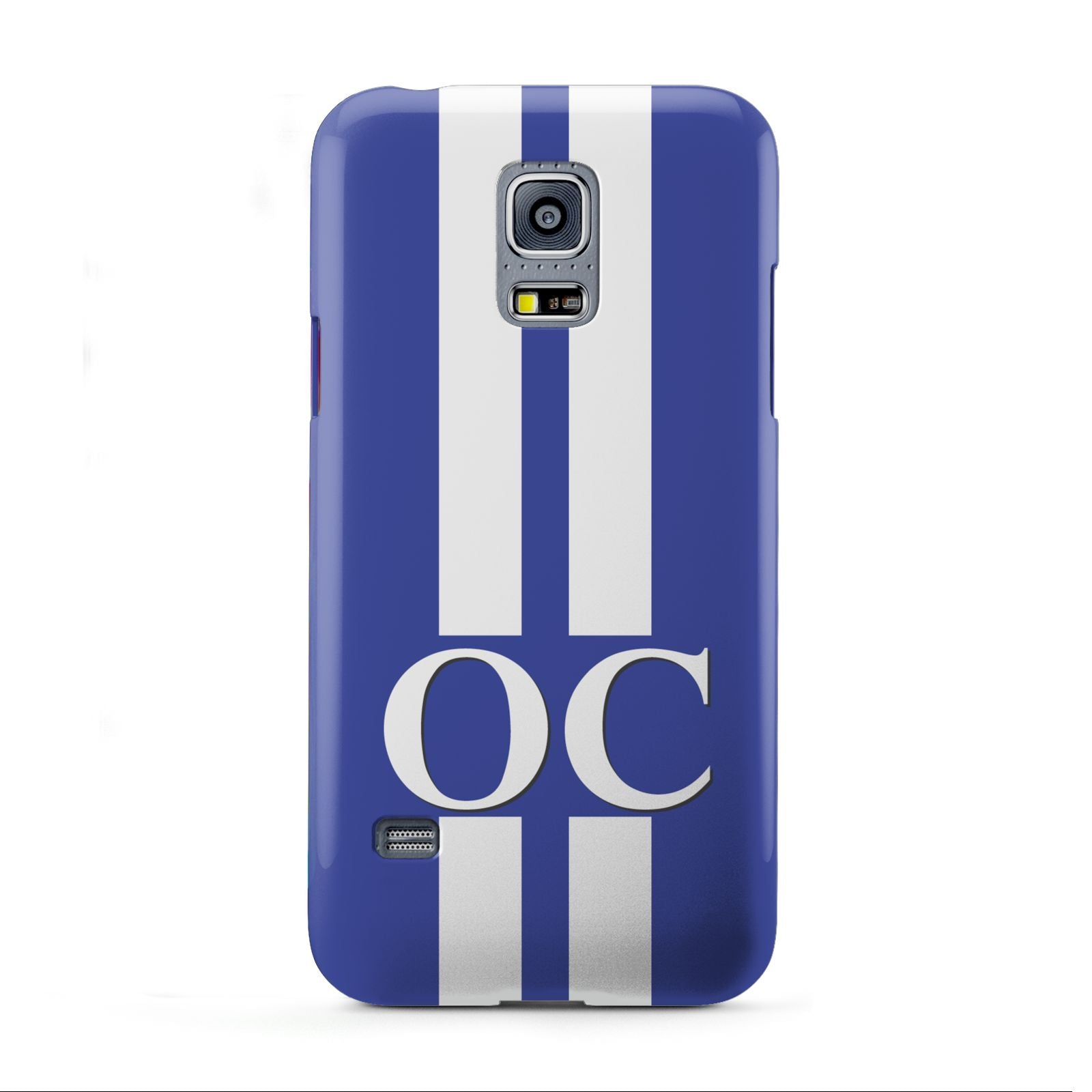 Blue Personalised Initials Samsung Galaxy S5 Mini Case