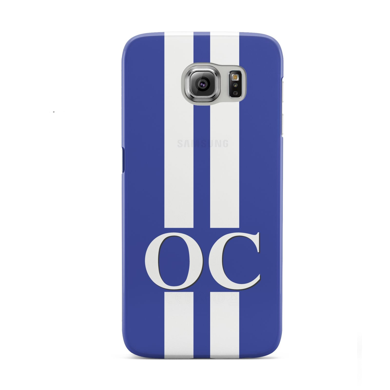 Blue Personalised Initials Samsung Galaxy S6 Case