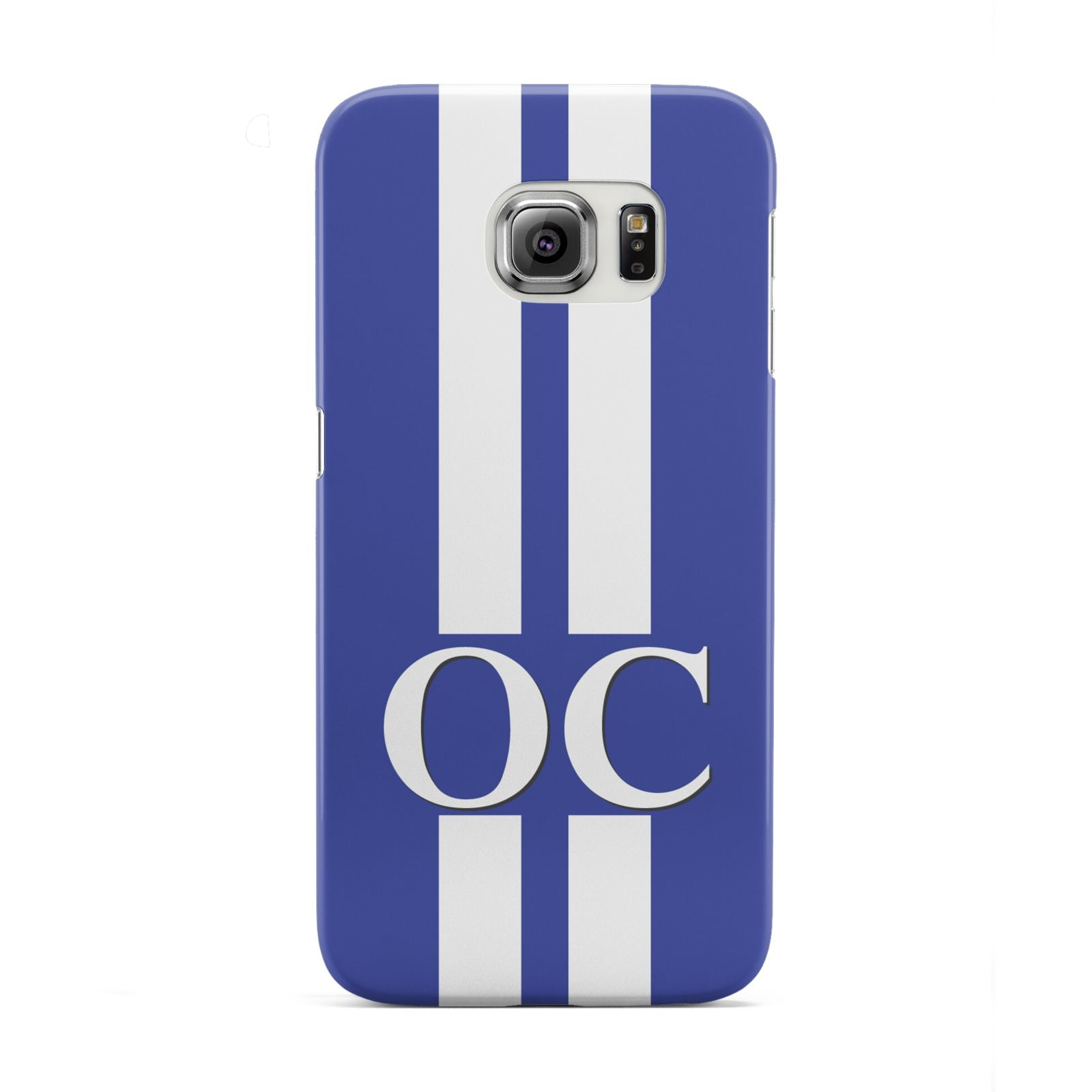 Blue Personalised Initials Samsung Galaxy S6 Edge Case