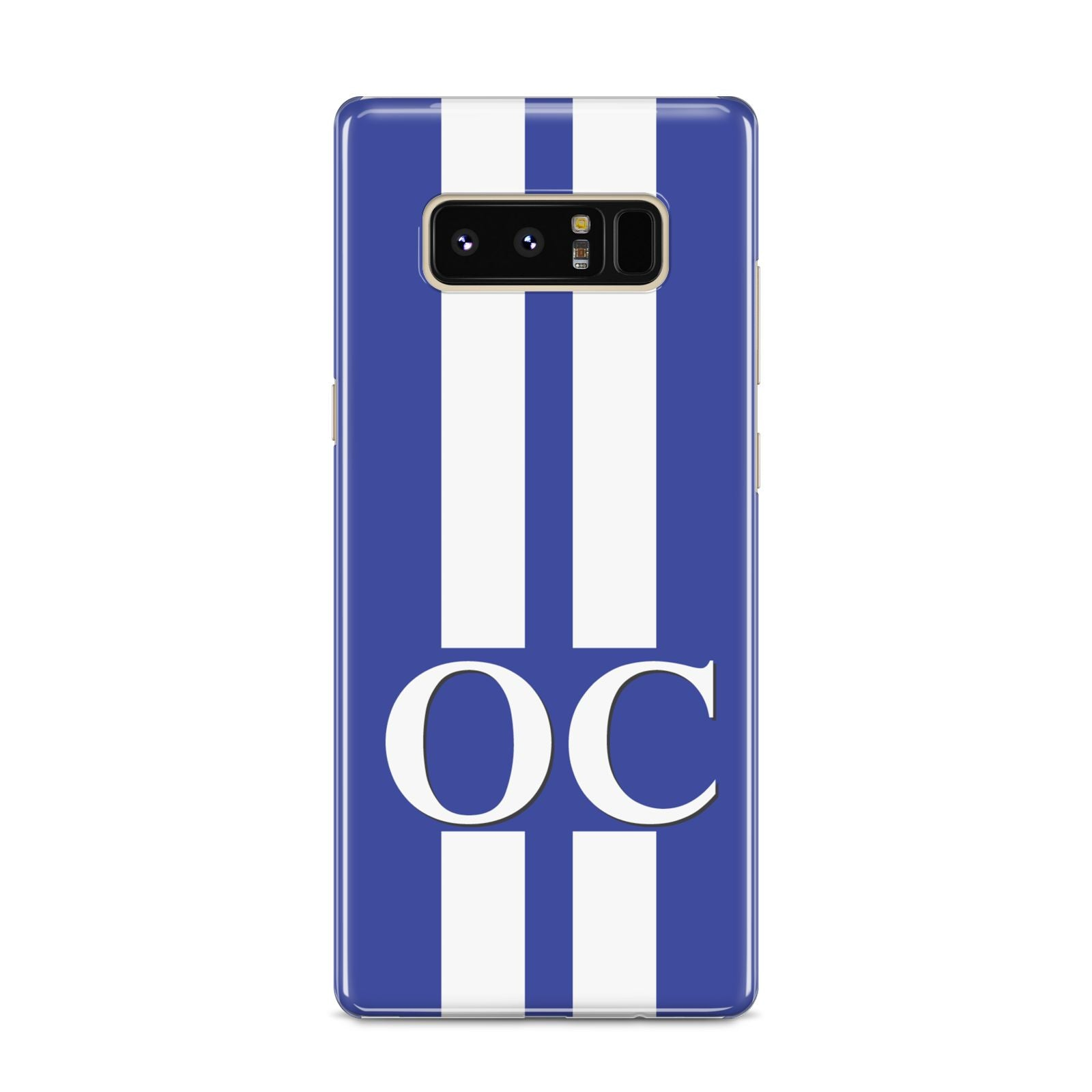Blue Personalised Initials Samsung Galaxy S8 Case