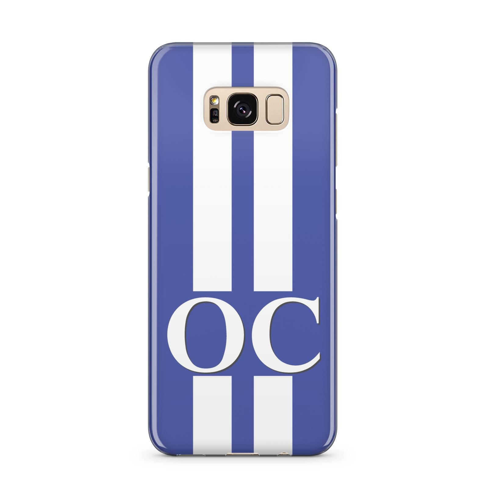 Blue Personalised Initials Samsung Galaxy S8 Plus Case