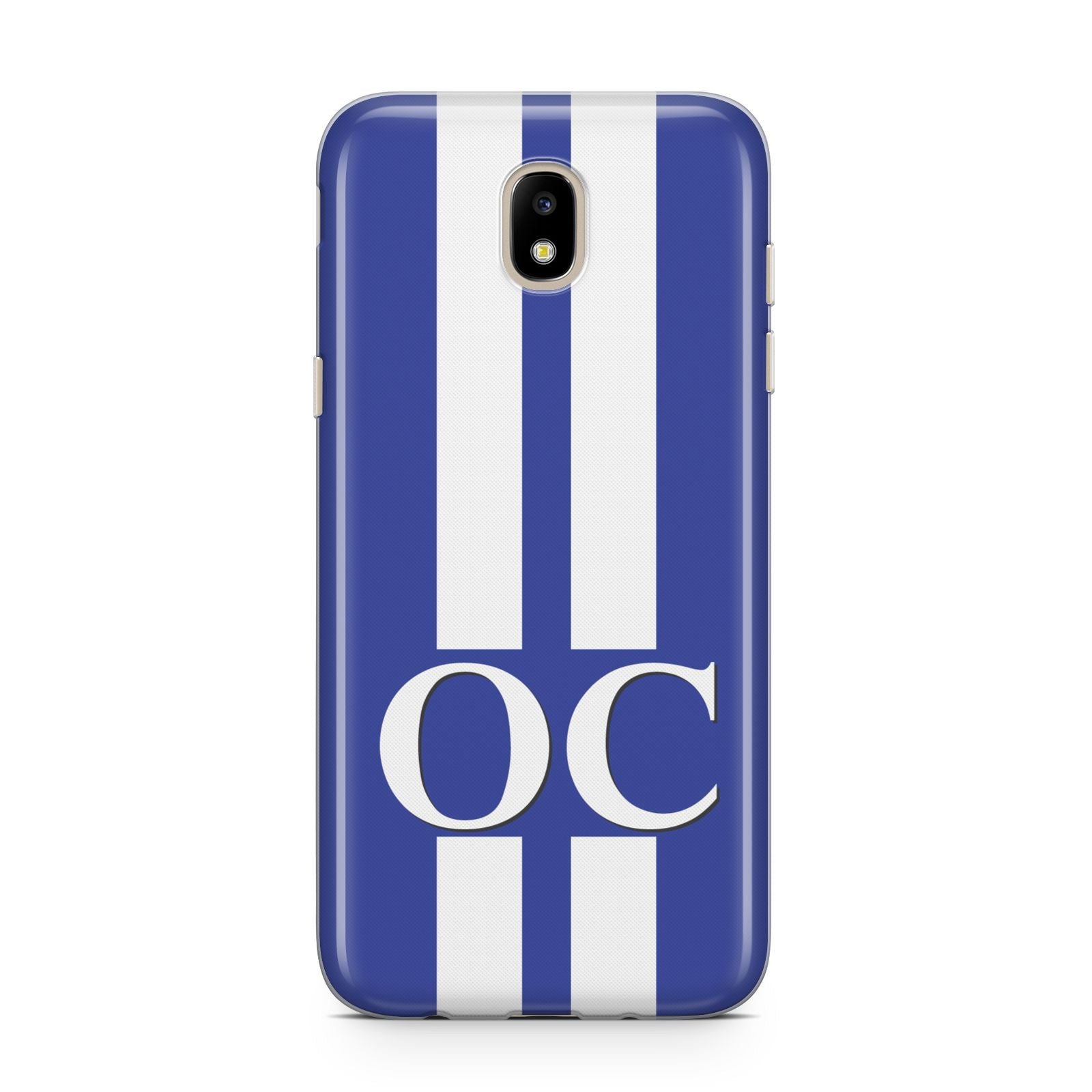 Blue Personalised Initials Samsung J5 2017 Case