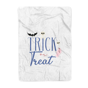 Blue Trick or Treat Large Fleece Blanket