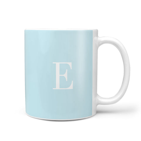Blue with White Personalised Monogram Mug