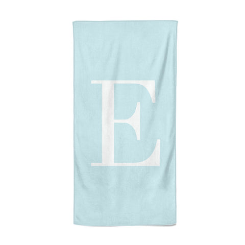 Blue with White Personalised Monogram Beach Towel