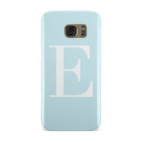 Personalised Blue & White Pastel Initials Samsung Galaxy Case