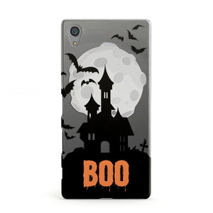 Boo Gothic Black Halloween Sony Xperia Case