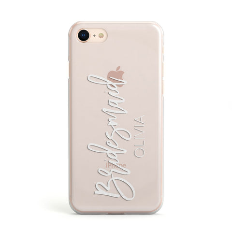 Bridesmaid Personalised iPhone Case