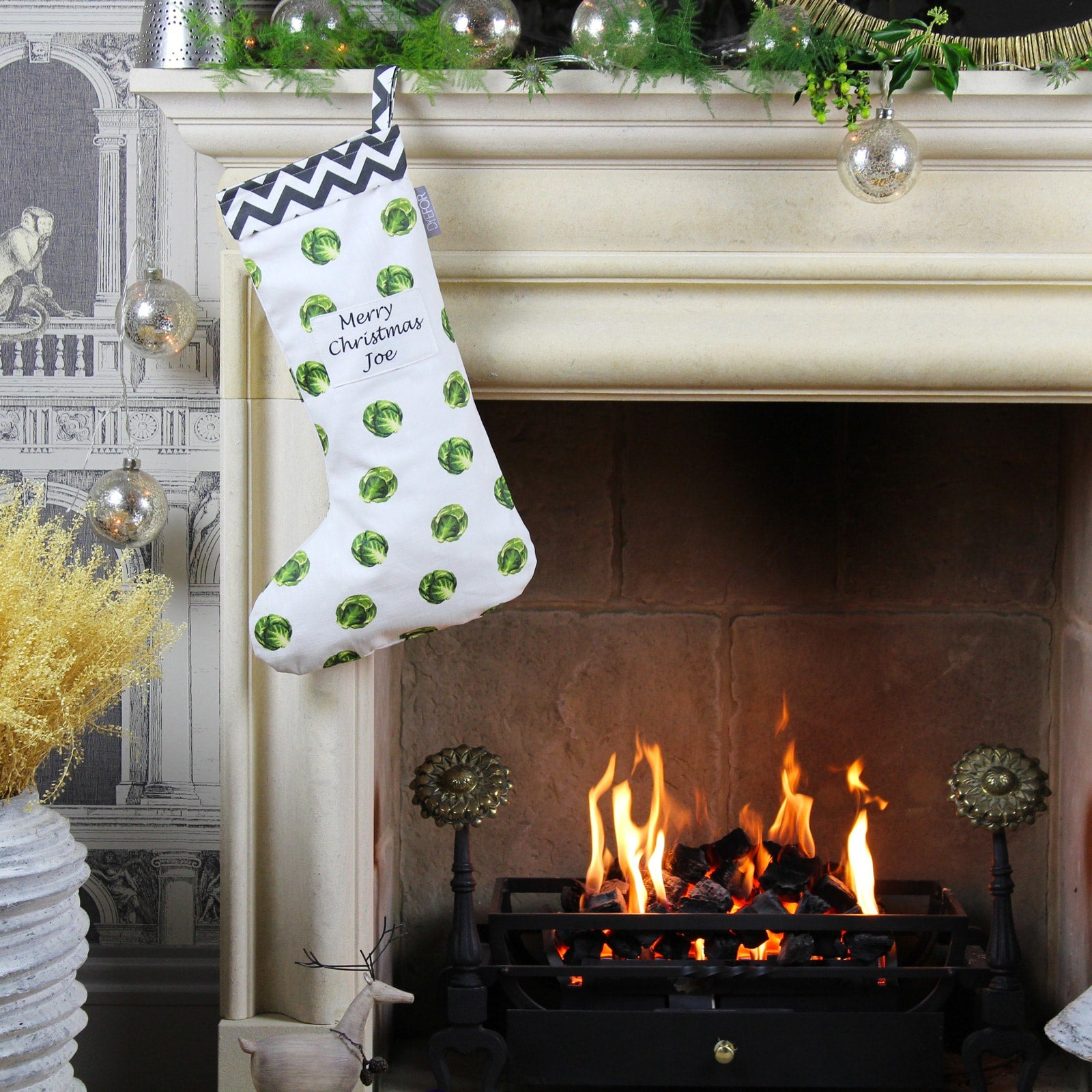 Personalised Christmas Brussel Sprout Stocking