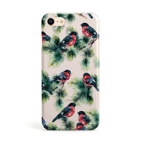 Bullfinch & Pine Tree iPhone Case