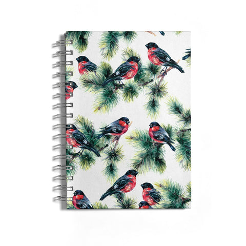 Bullfinch & Pine Tree Notebook