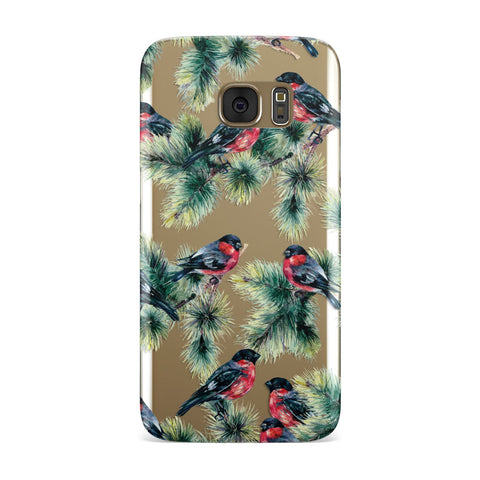 Bullfinch & Pine Tree Samsung Galaxy Case