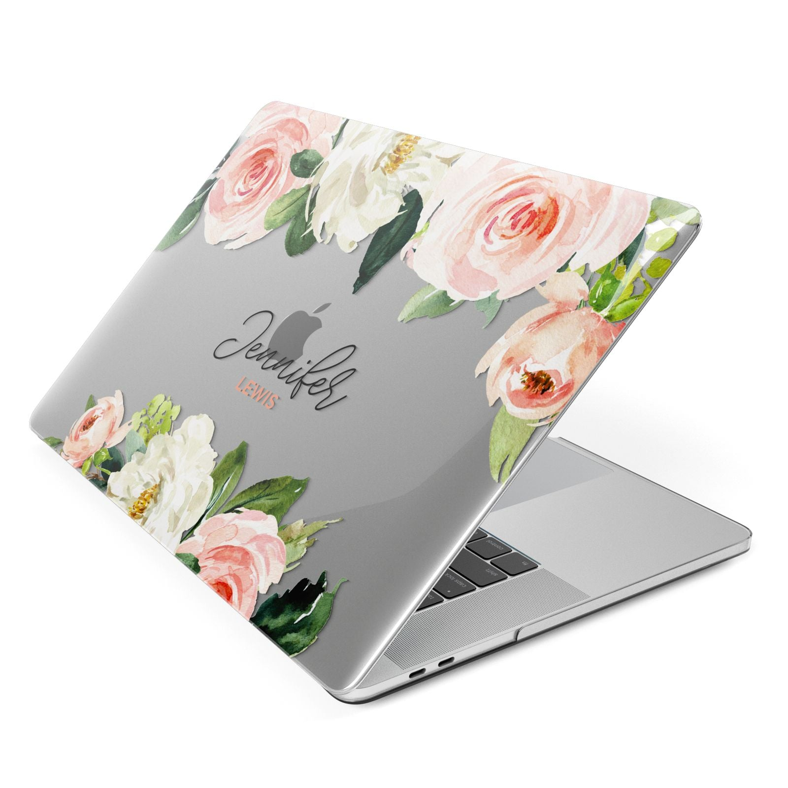 Bunches of Roses Personalised Names Apple MacBook Case Side View