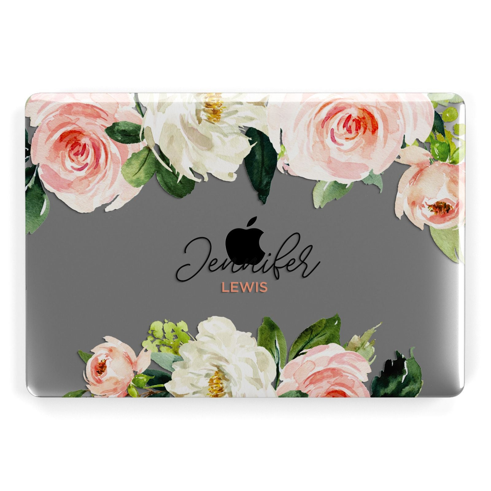 Bunches of Roses Personalised Names Apple MacBook Case